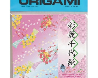 Sairei Chiyogami Fun Origami Paper 5.875 in. by 5.875 in. 48 sheets