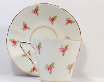 Lovely Stanley Fine Bone China made in England teacup and saucer.