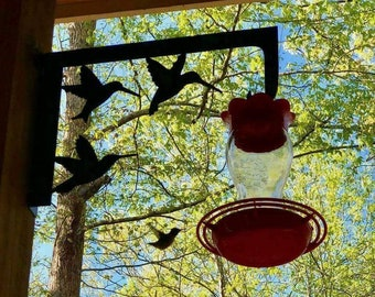 Hummingbird feeder holder