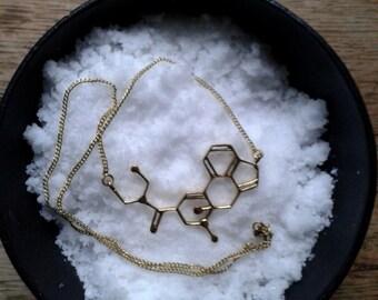 Hofmann molecule necklace in brass