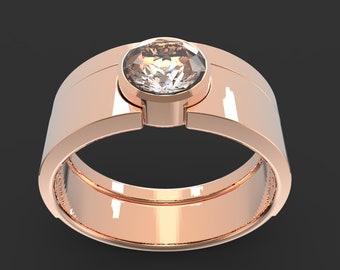 The Bezel Solitaire Set Featuring Diamond