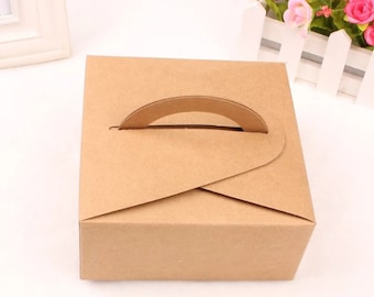 Kraft Paper Box - 5pcs Brown Kraft Boxes Paper Box Gift Boxes Gift Wrapping 140mm x 140mm x 65mm