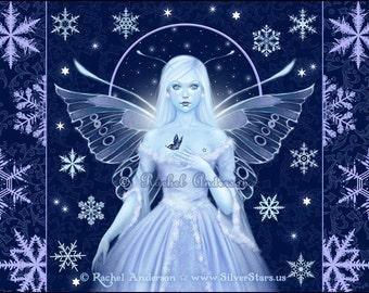 Snowflake Fairy and Fantasy Art Print