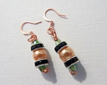 Pech pearl copper earrings