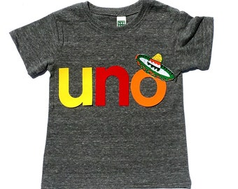 uno. dos. tres. Birthday. Fiesta Party. First Birthday. Second Birthday.Gender Neutral.Fabric Iron On Appliques.Two Colors.NEW DESIGN