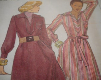 Vintage 1970's Butterick 4391 Young Designer Jane Tise of Sweet Baby Jane Dress and Belt Sewing Pattern Size 12 Bust 34