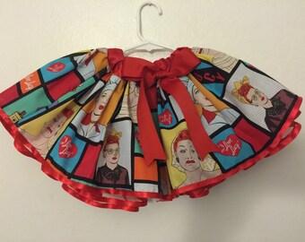 I love lucy inspired tutu skirt
