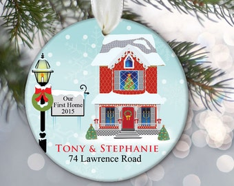 Housewarming Gift Our First Home Ornament Personalized Our New Home Ornament First House Ornament Custom Gift Realtor Closing Gift OR669