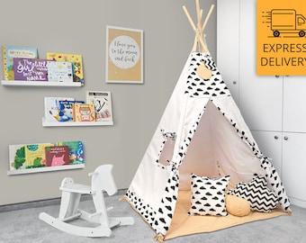 Tipi Set - Kids Play Tent Teepee - Black Champagne