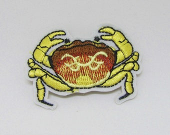 Patch, badge fusible crab 60 x 43 mm - sea