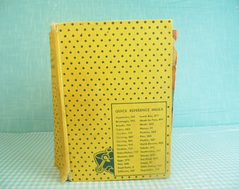 Vintage Culinary Arts Institute Encyclopedic Cookbook - Yellow Cover - Ruth Berolzheimer - Copyright 1949