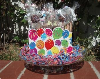 Gourmet Dog Treats - Birthday Bash Gift Basket - Dog Treats Organic All Natural Gourmet Vegetarian - Shorty's Gourmet Treats