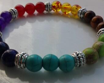 7 Chakras Mixed Gemstone Healing Bracelet