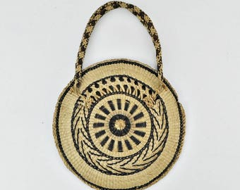 Vintage Woven Straw Purse Makes Great Wall Hanging Straw Basket Wall Decor Boho Decor