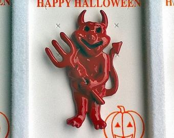 RARE 1960s-70s Vintage HALLOWEEN Pin DEVIL Design