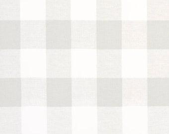 Laminated Cotton aka Oilcloth HEAVYWEIGHT splat mat gray and white Buffalo Plaid, choose your size