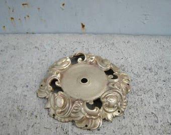 Antique bronze part piece, Bronze vintage decor, ajoure partie, ajour old lamp element, soviet