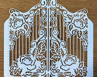 Tattered lace - Rose Gateway die cut x 1