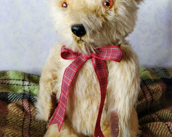 Lovely vintage Chiltern teddy bear - mohair bear - 1950's old bear - made in England