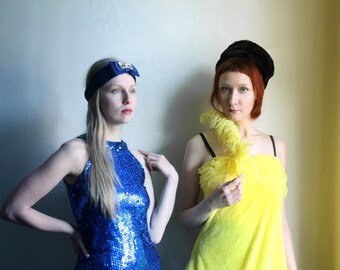 SUPER SALE - Crazy Lemon Yellow Costume dress - Halloween yellow velvet Sesame street Costume, Party Dress size S M