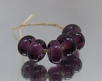 Purple Ice, Artisan Lampwork Glass Beads, SRA, UK