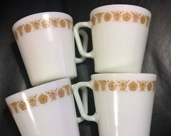 Vintage Pyrex Coffee Cups x 4