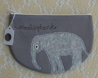 an elephant named elden zipper purse