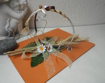 Original ring pillow - rustic - wedding