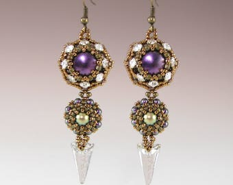 Straight to the Point Earrings - Downloadable PDF Pattern/ Tutorial