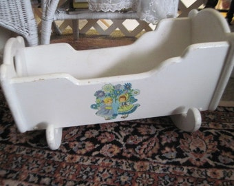 Doll Cradle, Wooden Doll Cradle Sweet, Doll Furniture, Rocking Doll cradle, Vintage Doll Cradle, Dolls,  :)
