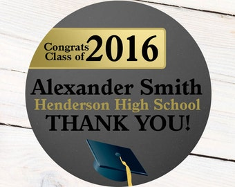 Congrats Grad Elegant Labels, Graduation Custom Labels, Class of 2016 Stickers, Grad Address Labels