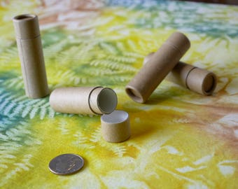 50 Cardboard Lip Balm Tubes - Eco Friendly, Recyclable & Sustainable 1/3 oz