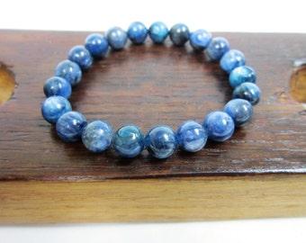 Kyanite Bracelet Blue Gemstone Bracelet Rare Blue Kyanite Allign Chakra Bracelet Blue Kyanite Bracelet Blue Kyanite Meditation Yoga Bracelet
