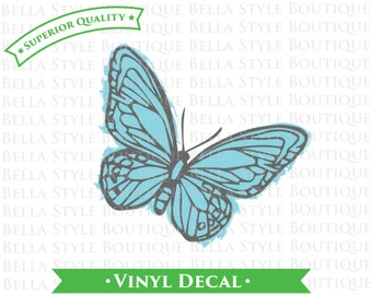Painted Butterfly VINYL DECAL