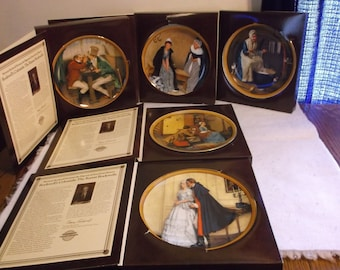 Norman Rockwell's Colonials by Edwin M Knowles Plate Set of 5