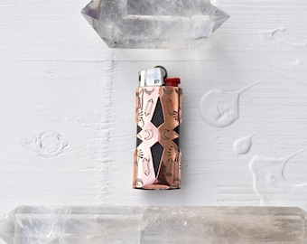 Catch a Fire Lighter Case // Stamped Copper Case III // Crystal Visions