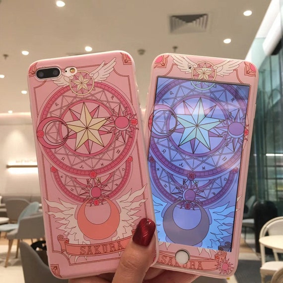Card Captor Cardcaptor Sakura I Phone Case Tempered Glass Set Free Worldwide Shipping by Etsy