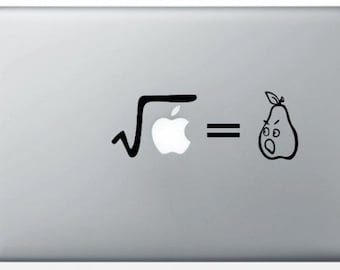 "Sticker ""Square root of an Apple"" for MacBook"