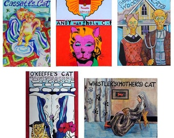 Artist Cats Collection:  American Artist Cats Card Pack