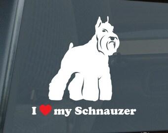 I Love my Schnauzer v2 Die Cut Vinyl Sticker - 1021