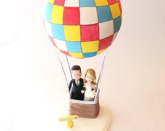 Custom wedding cake topper - Balloon