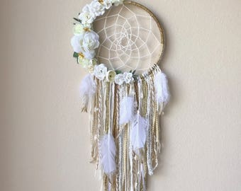 """8"""" Custom Floral/Feather dream catchers"""