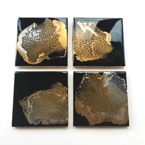 """4-piece (4""""x4"""") Custom Coaster Order (up to 3 colors of your choice)"""
