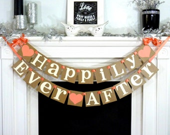 Wedding Sign / Happily Ever After Banner / Wedding Banner Sign / Wedding Decoration / Rehearsal Dinner / Photo Prop- Signage / Backdrop