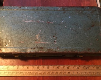 1960s/70s Metal Box. Dr Socket Wrench Set Metal Box.