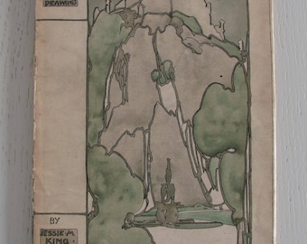 Jessie M. King: The Grey City of the North. A book of Drawings - [1910]