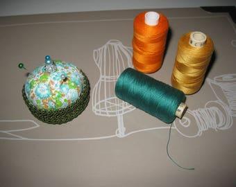 Pincushion fabric and lace