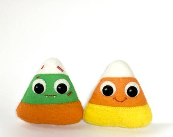 Halloween Candy Corn - Cute Halloween Decor - Halloween Candy Corn - Halloween Plush - Cute Halloween