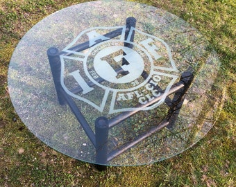 IAFF Glass Top Table with Free Shipping.