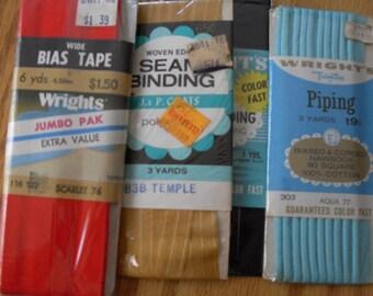 Lot of Vintage Bias Tape Seam Binding Etc
